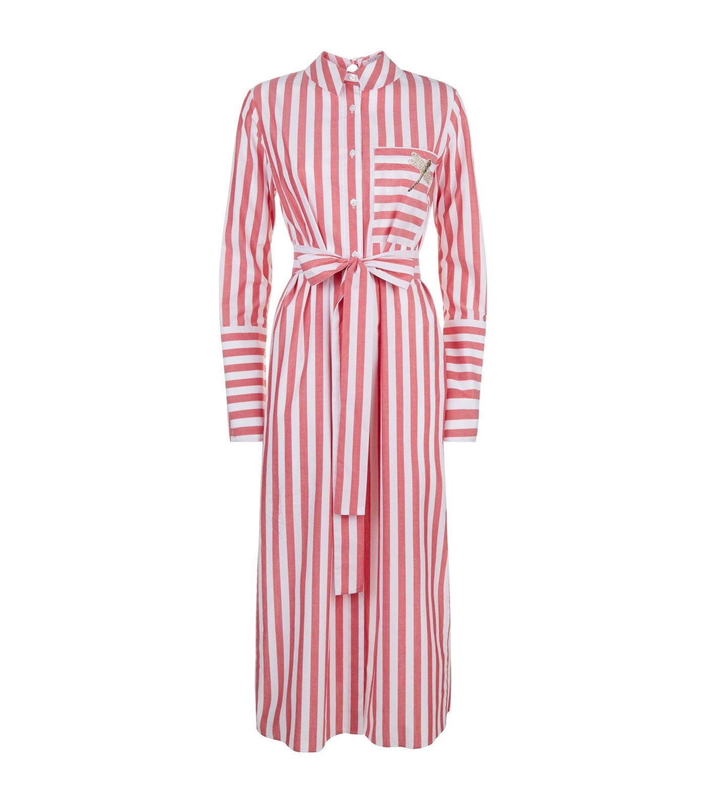 891df36709b VIVETTA Striped Embellished Cotton Shirt Dress