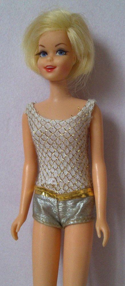 Rare Casey, Twiggy barbie vintage  poupée mannequin, 1966 Japan  + tenues robes