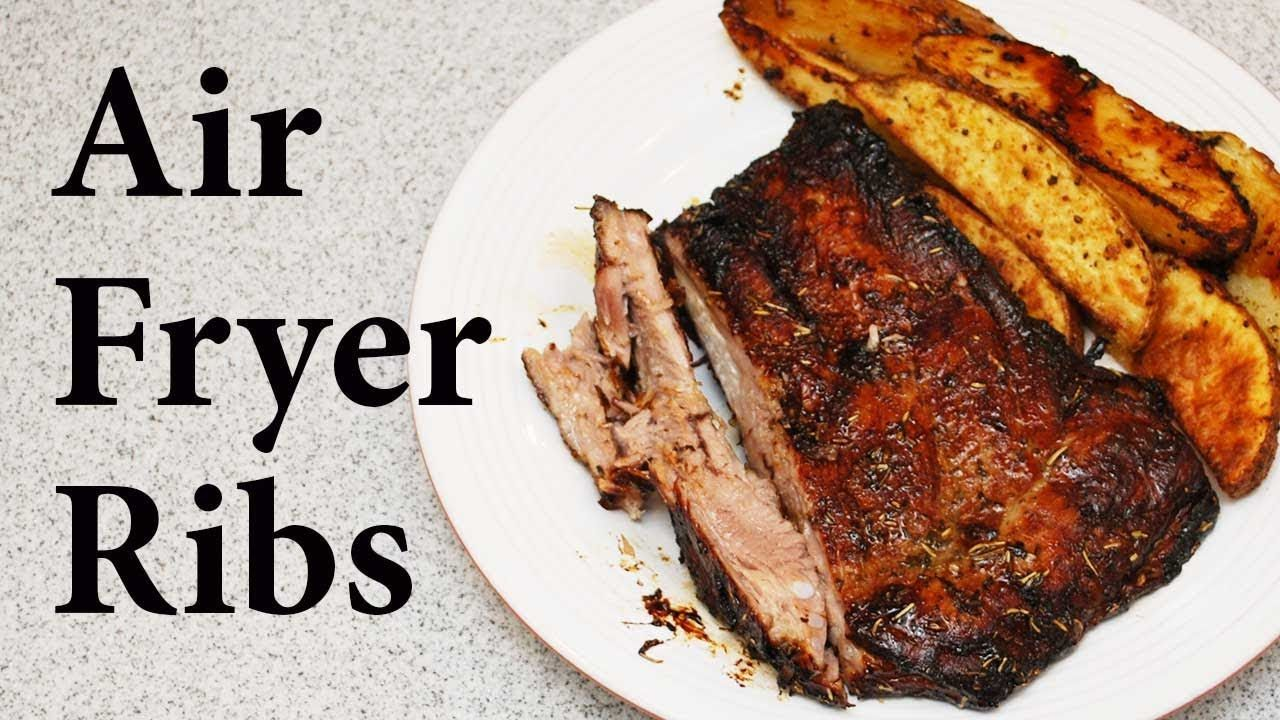 Pork Spareribs Roasted in an Air Fryer YouTube (With