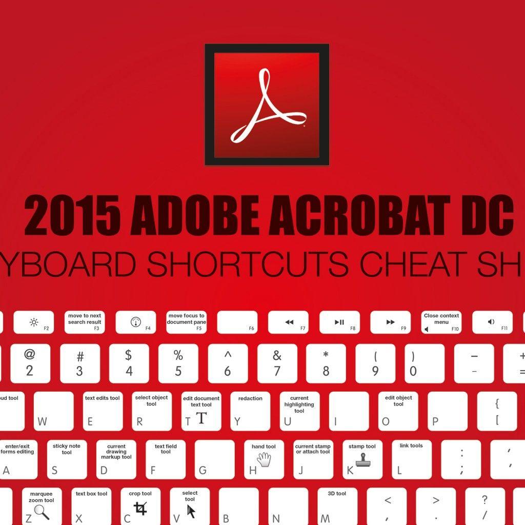 2015 Adobe Acrobat DC Keyboard Shortcuts Cheat Sheet