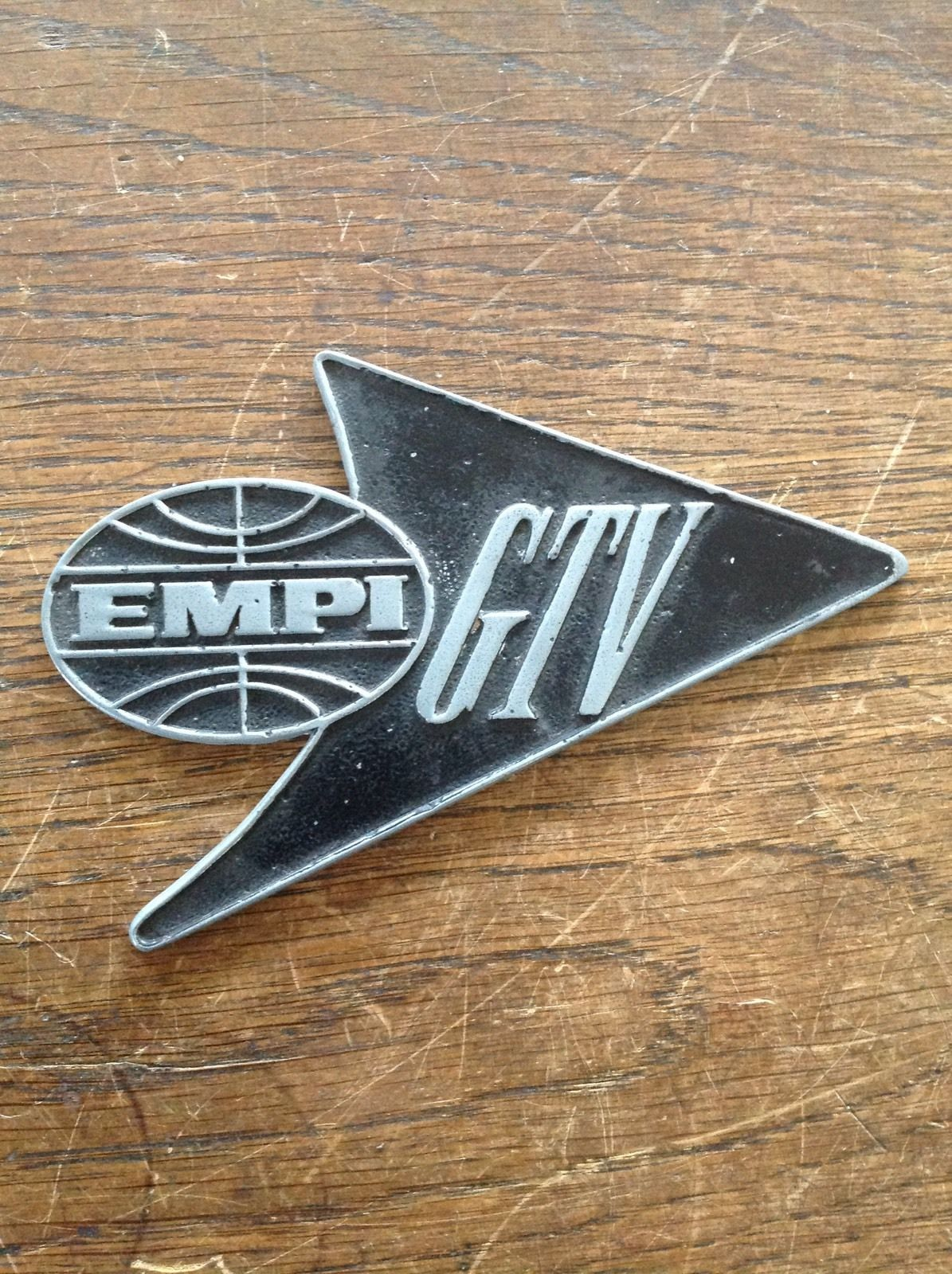 Amazing original Empi GTV beetle badge. empi Car badges