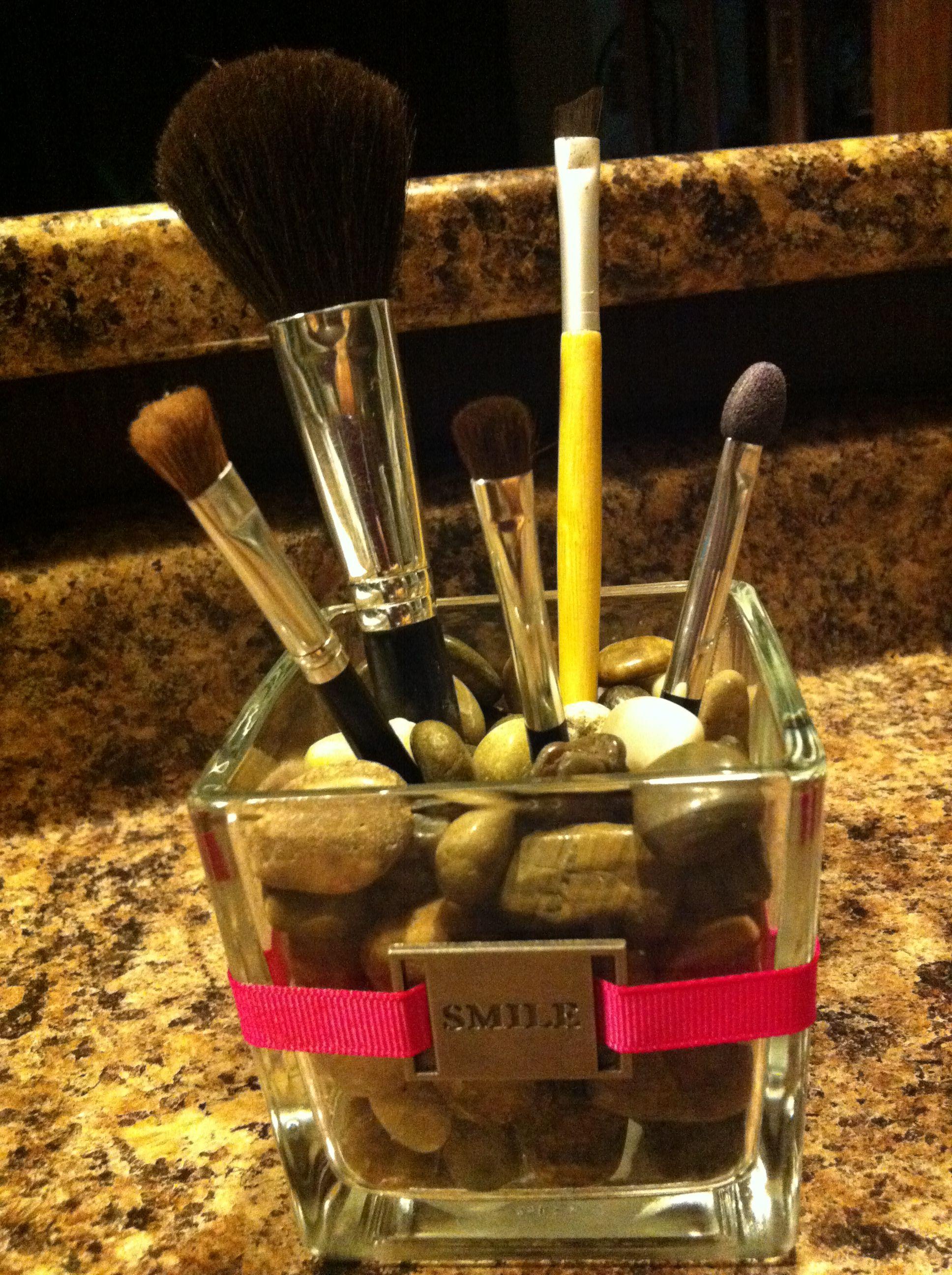 Makeup Brush Holder Flat iron holder, Makeup brush