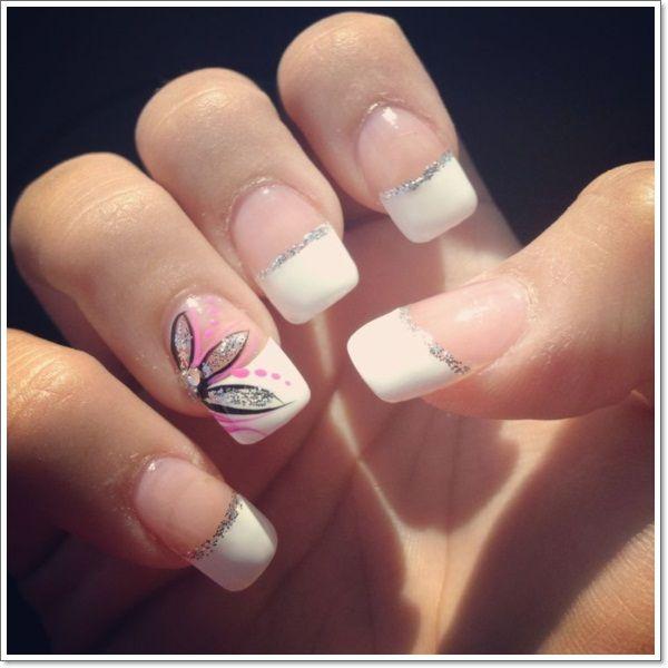 french tip nails nail art