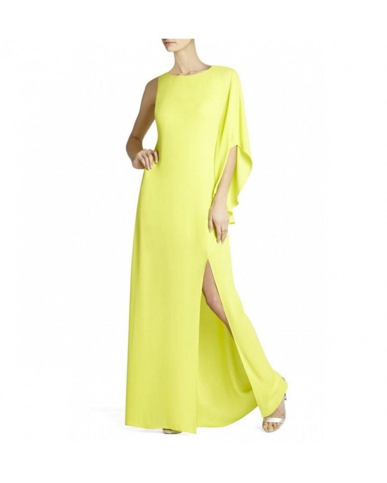 Bcbg Maxazria Janus Neon Green One Shoulder Dress | BCBG Maxazria ...
