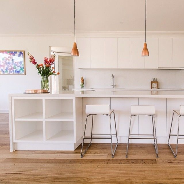 Six Splashback Looks We Love: We Love The All White Look Of This Kitchen Using Frosty