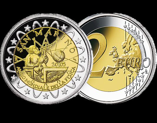 2 Euro San Marino 2005 Galileo Galilei Mdm Deutsche Münze Münzen