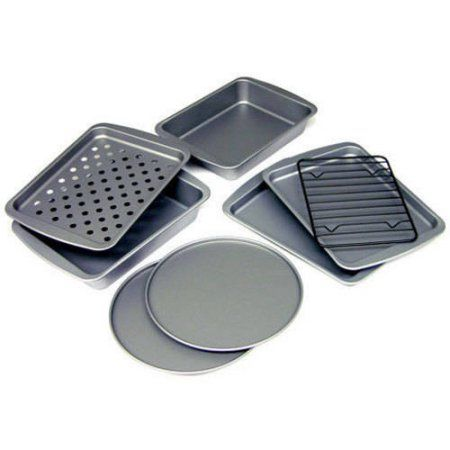 Bakereze 8 Piece Non Stick Toaster Oven Bakeware Set With Images