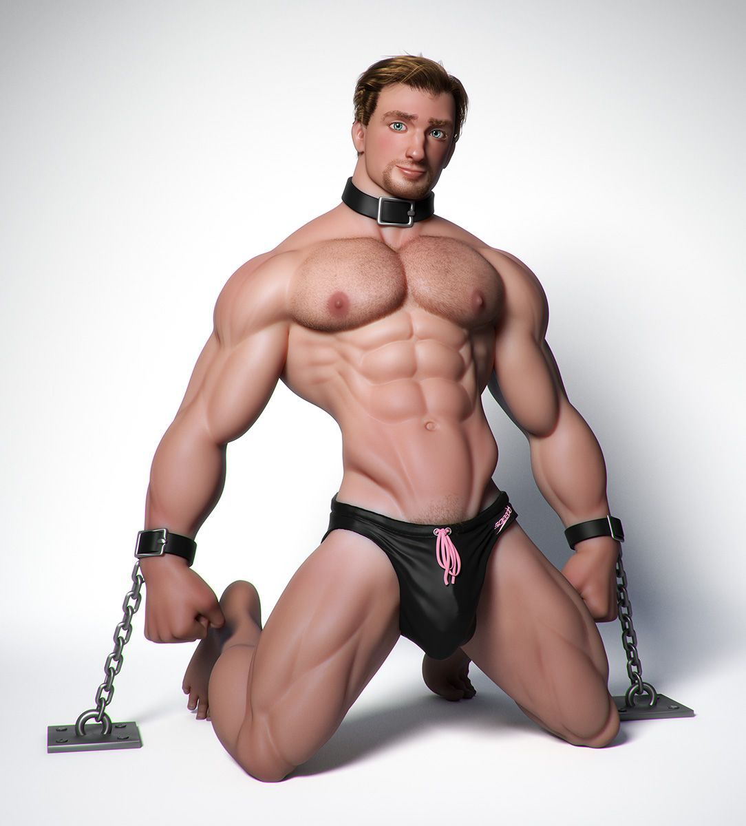 albron is creating 3d gay muscle men in 2018 | alex bronnings