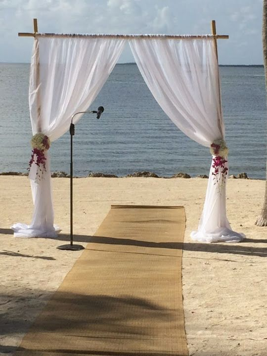 Florida Destination Weddings Private Beach Weddings In Florida Key Largo Lighthouse Beach Beach Wedding Arch Budget Beach Wedding Wedding Decorations On A Budget