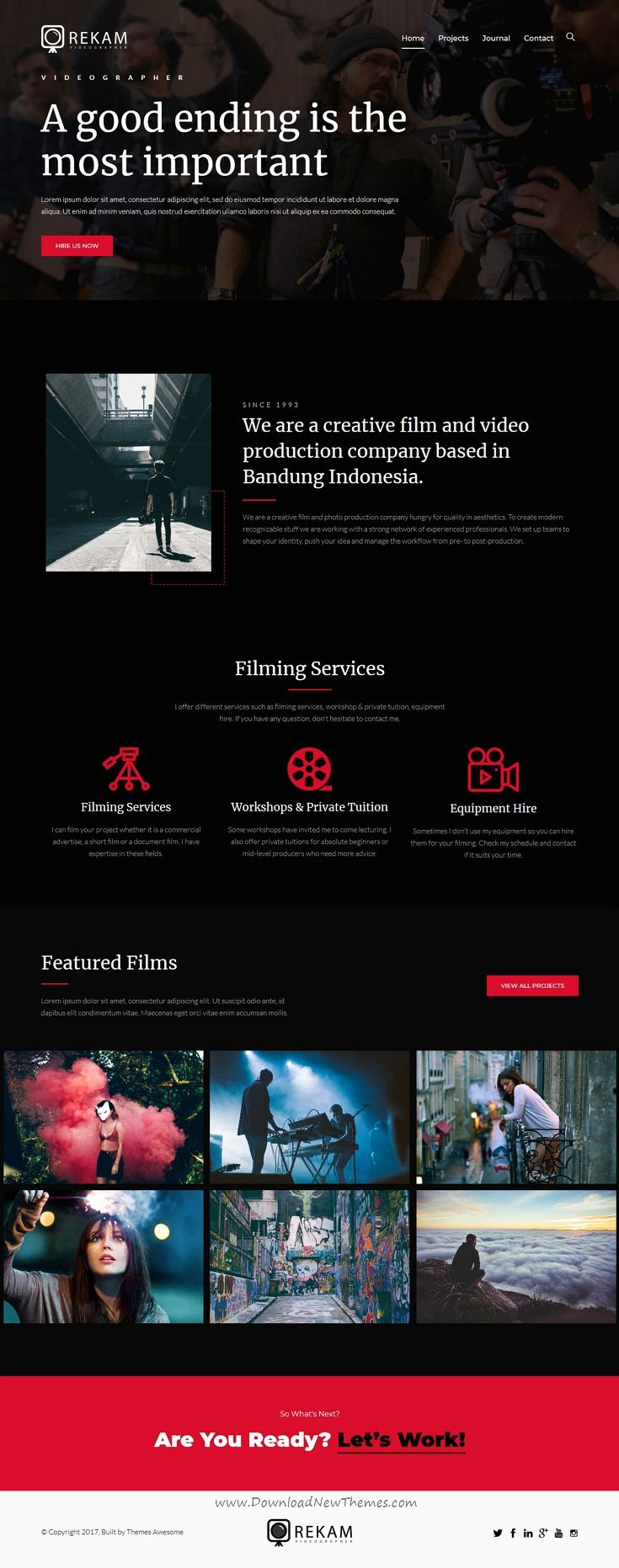 videography portfolio websites