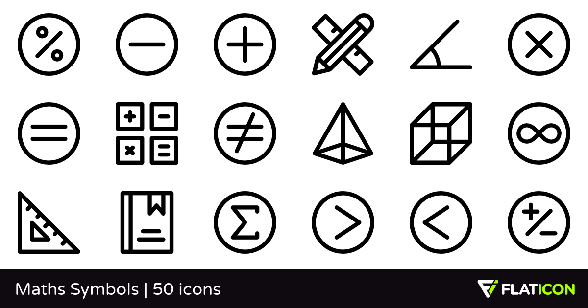50 Free Vector Icons Of Maths Symbols Designed By Freepik Symbol Design Math Symbols