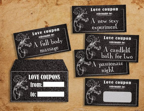 53ecc6bfe92 Denim Instant download printable sexy love coupons book - naughty blank love  coupon sexy valentine's