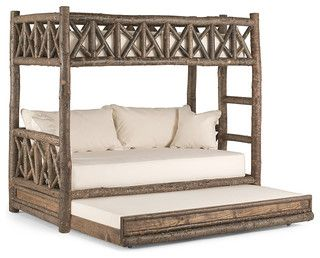 Rustic Bunk Bed With Trundle 4256 By La Lune Collection Rustic