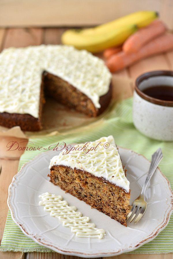 Ciasto marchewkowe z polewą serową