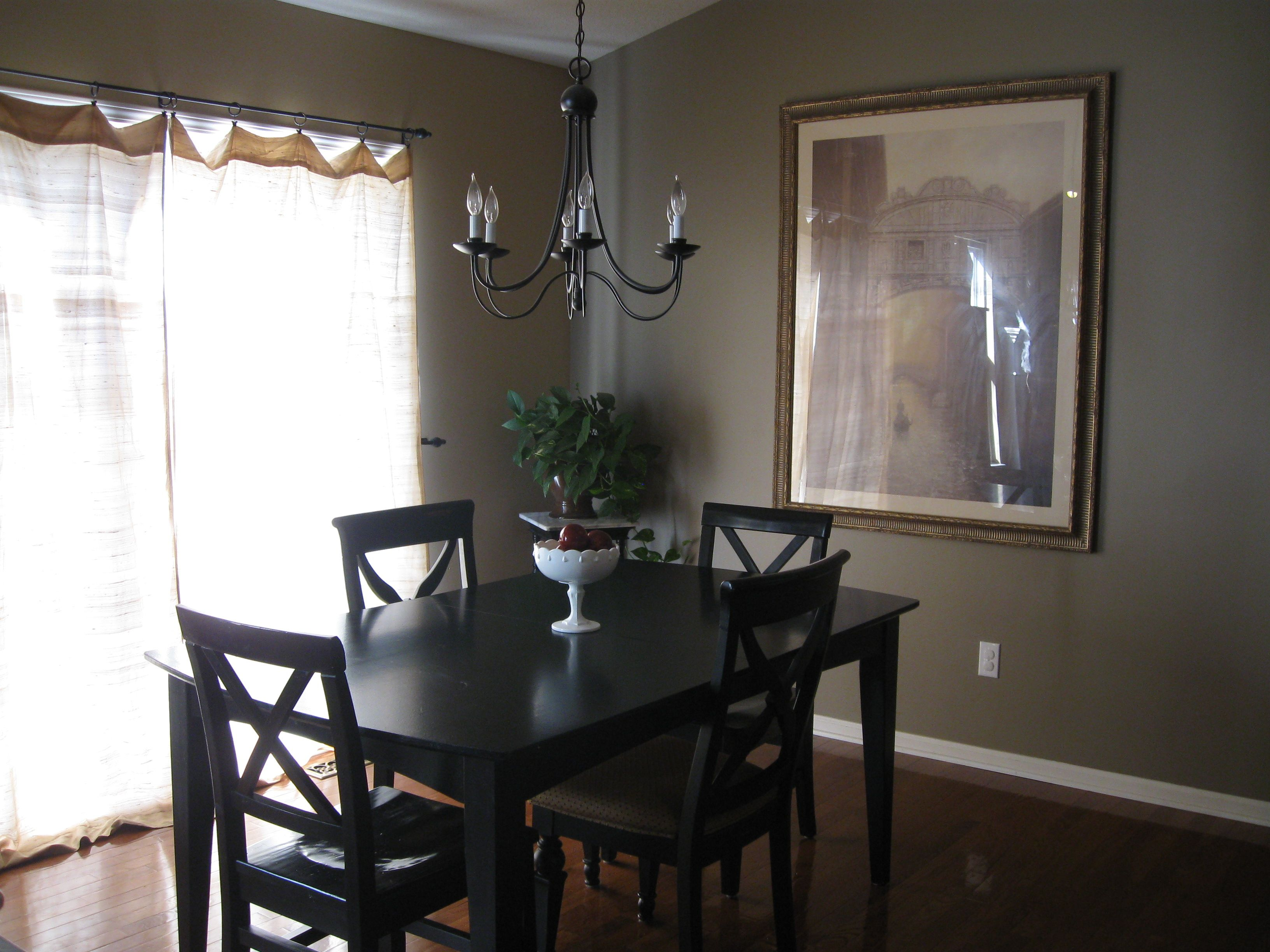 love this color for the walls and this table is just my style