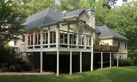 All season sunrooms 3 season patio rooms champion - Champion windows sunrooms home exteriors ...
