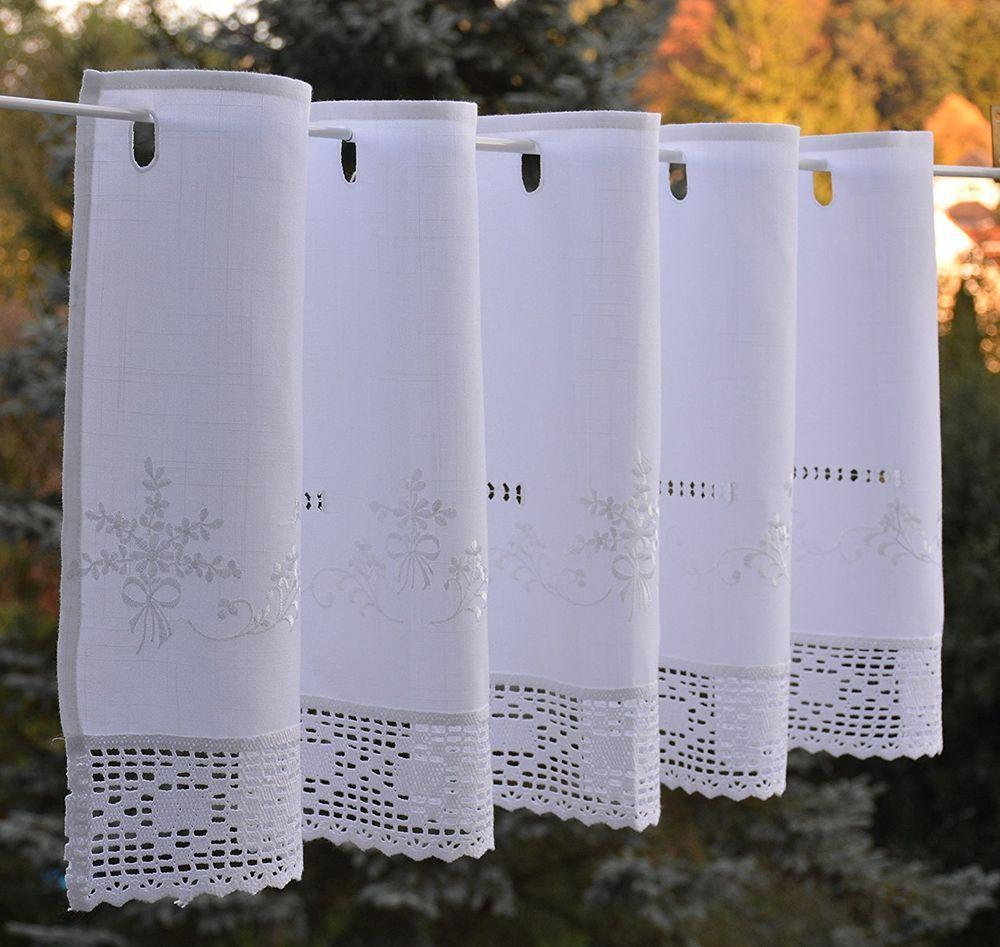 Scheibengardine Hakelkante Bistrogardine Panneaux Landhausstil 45 X 150 Lxb Weiss Ebay Bistrogardinen Scheibengardine Gardinen
