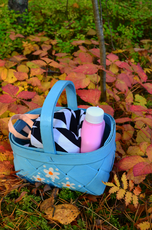 Paint a basket and go to picnic with it!