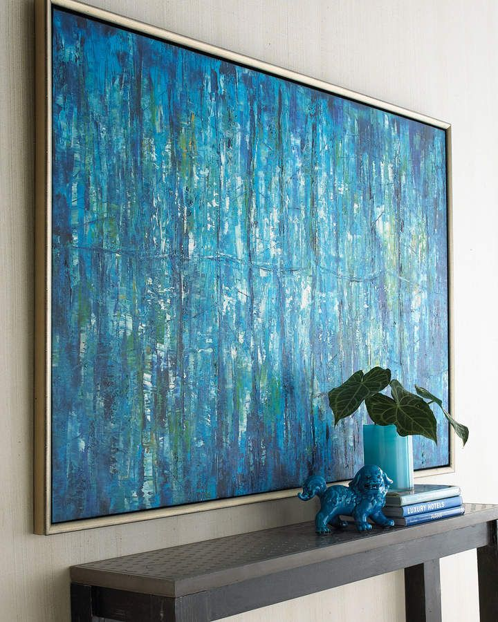 John Richard Collection Blue Jinlu Original Painting Wall Canvas Painting Creative Oil Painting Contemporary Abstract Art