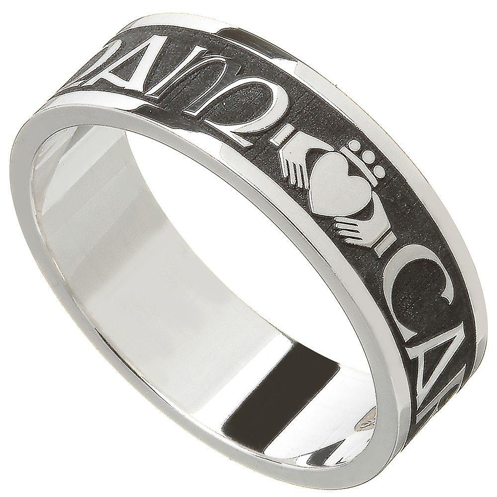 "Irish Rings Men's Sterling Silver Mo Anam Cara Ring ""My"