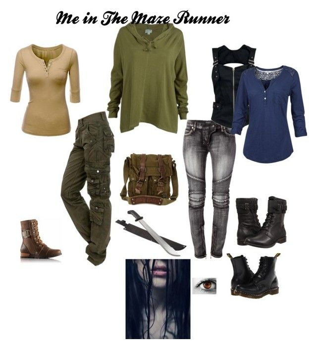 """If I were in The Maze Runner"" by haileyscomet95 ❤ liked on Polyvore featuring Balmain, Dr. Martens, SOREL, RVCA, Belstaff, Doublju, Fat Face and UGG"