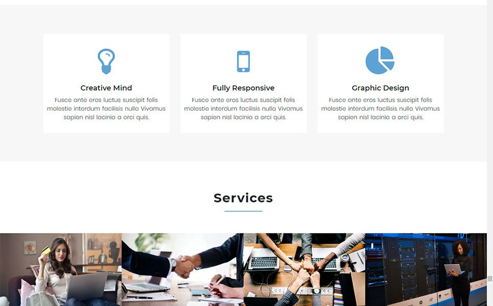Onix One Page Parallax Bootstrap Landing Page Template Female