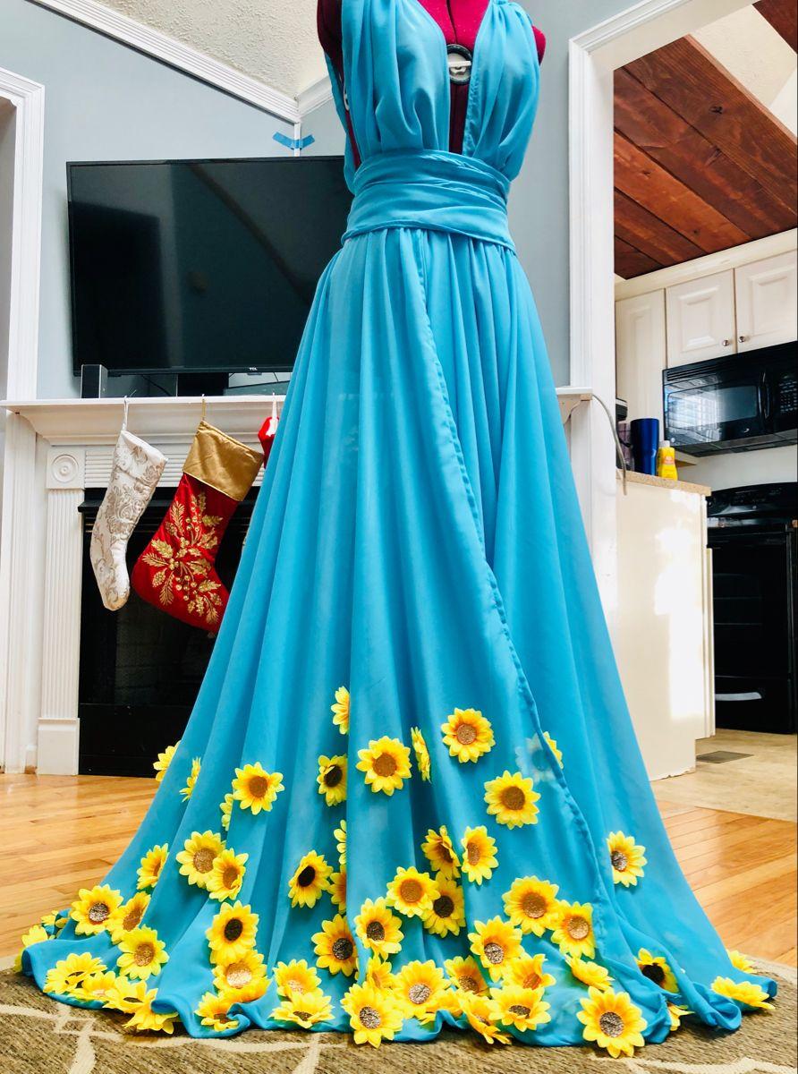 Sunflower Dress Strapless Dress Formal Dresses Nice Dresses [ 1200 x 892 Pixel ]