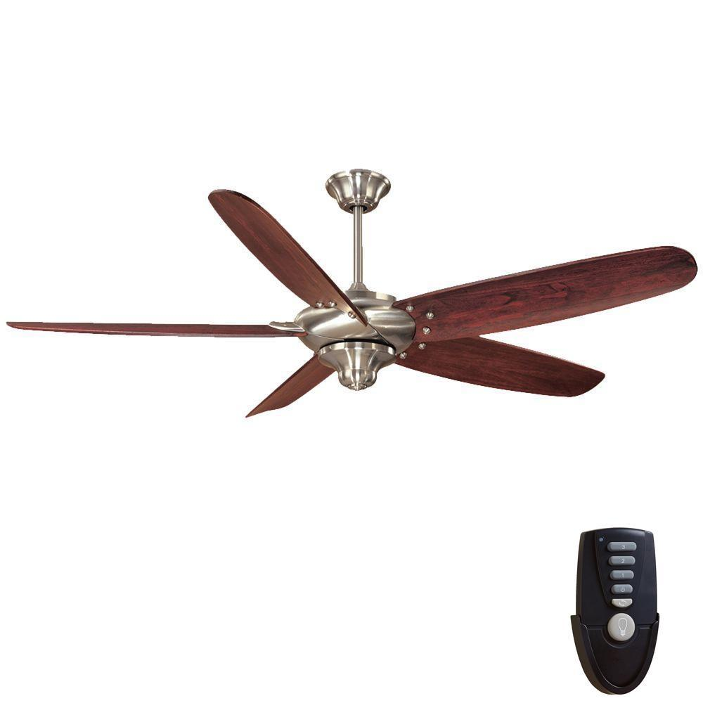 Home Decorators Collection Altura 68 In Indoor Brushed Nickel Ceiling Fan With Remote Control 26669 The Home Depot Brushed Nickel Ceiling Fan Ceiling Fan With Remote Ceiling Fan
