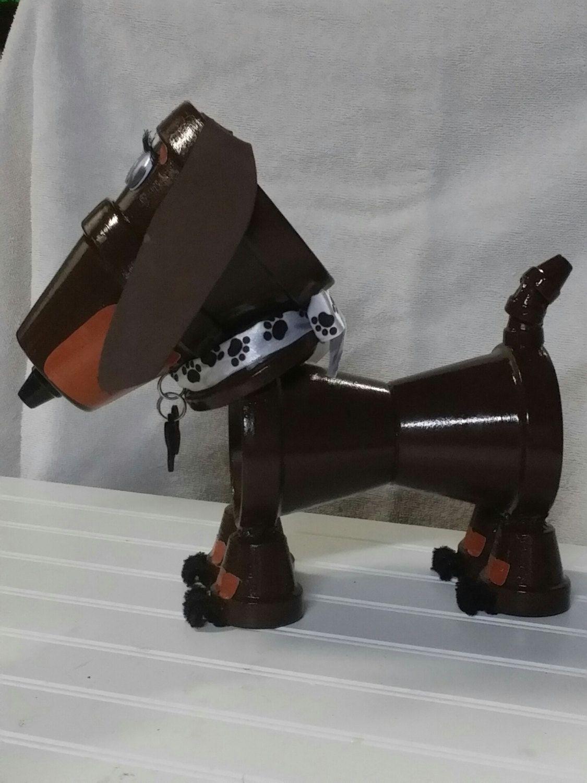 Decorative Dachshund Weiner Dog Flower Pot