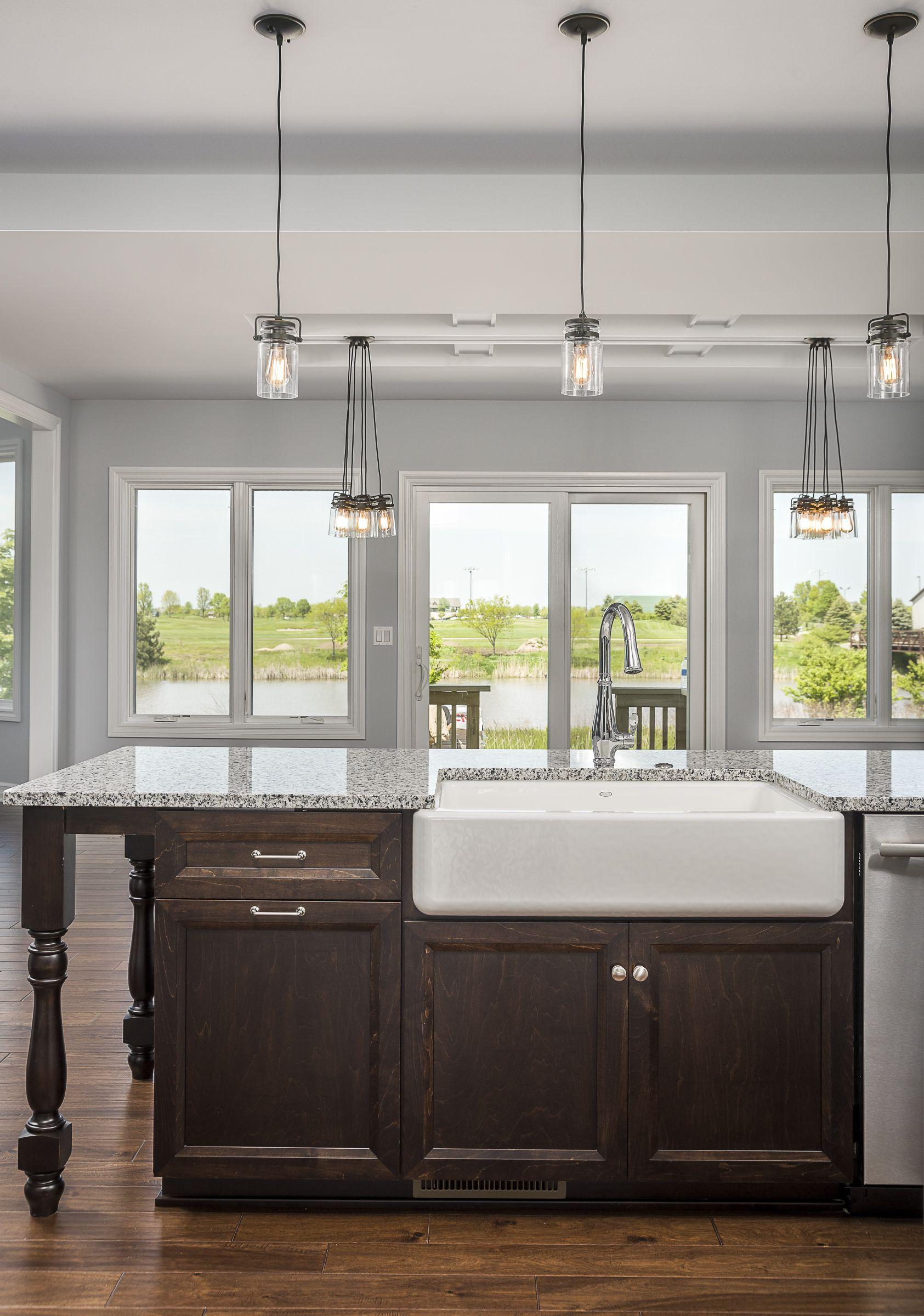 lighting stores naperville farm sink lighting cabinets and gorgeous view in this custom home built by kings court builders naperville il