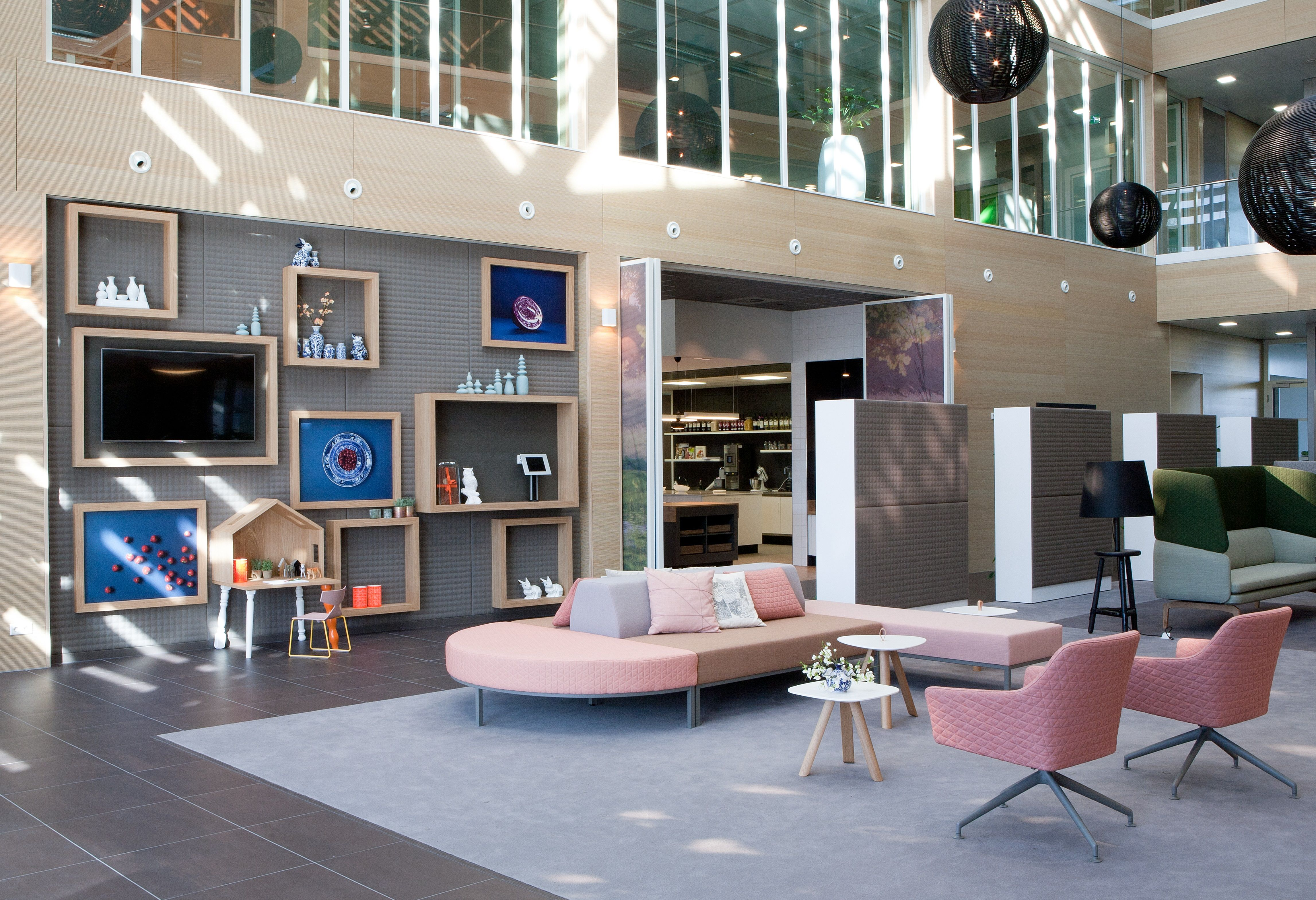 The Foam Fabrics walls and cabinets in Rabobank - Hardenberg