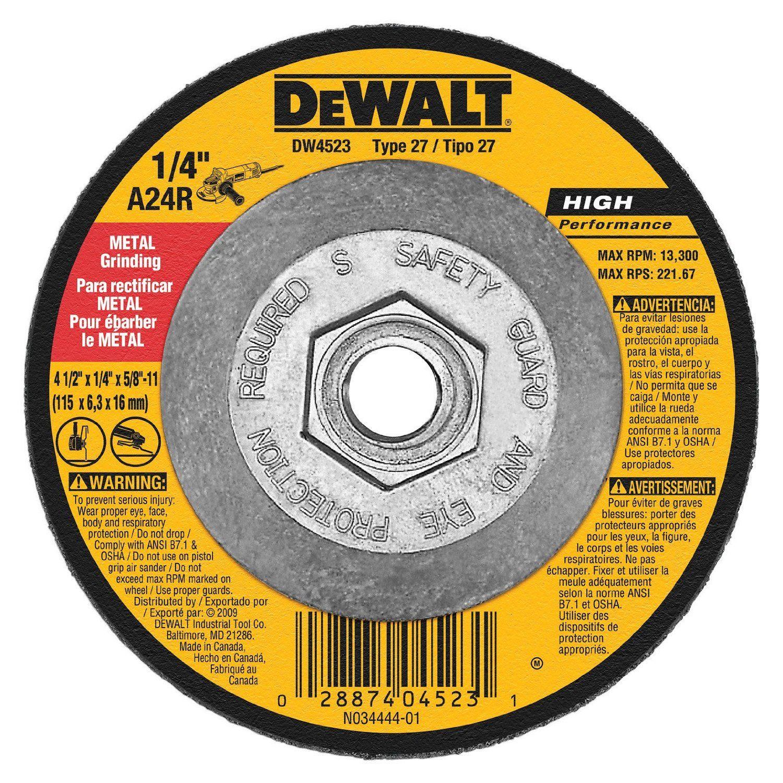 Dewalt DWA4500 General Purpose Metal Grinding Wheel | Metals and ...