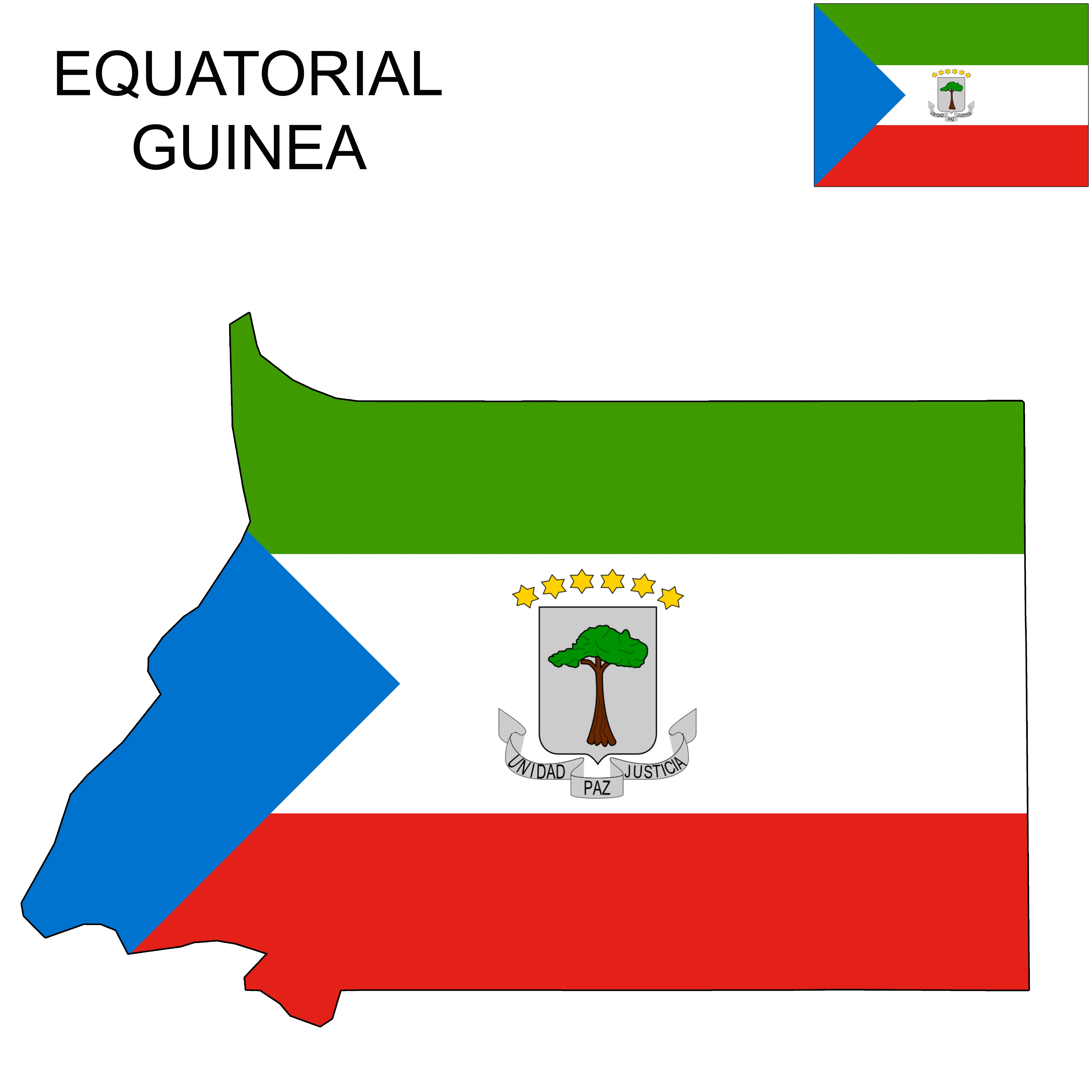 Equatorial Guinea Flag Map Flags In 2019 Flag Map
