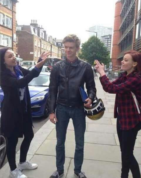 Thomas and his fans