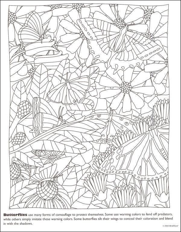 Hidden Exoskeletons Color My World Garden Coloring Pages