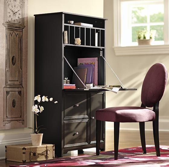 Desk Option Oxford Tall Secretary Desk Home Decorator Com