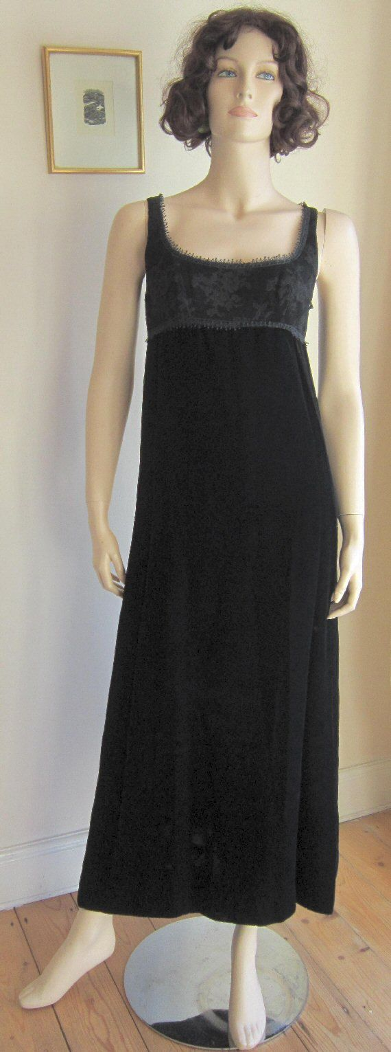Vintage s evening dress john bates for jean varon black velvet