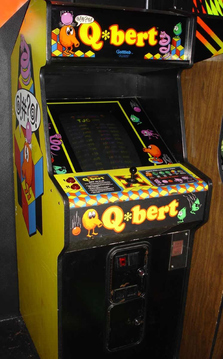 QBert Arcade Game Arcade games, Arcade, Vintage video games