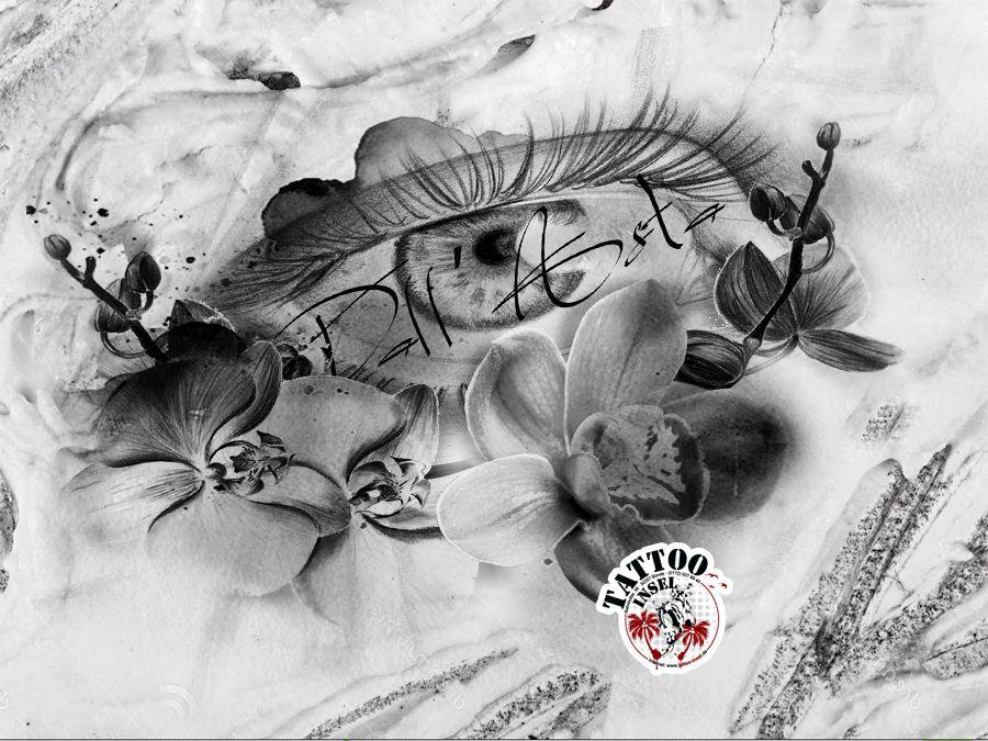 Auge orchideen tattoo tattoo tattoo ideen tattoo insel und tattoo vorlagen - Orchideen tattoo vorlage ...