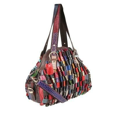 Photo of from ITALYSHOP24.COM DAMEN LEDER SHOPPER MULTICOLOR TASCHE Schultertasche Hobo B…