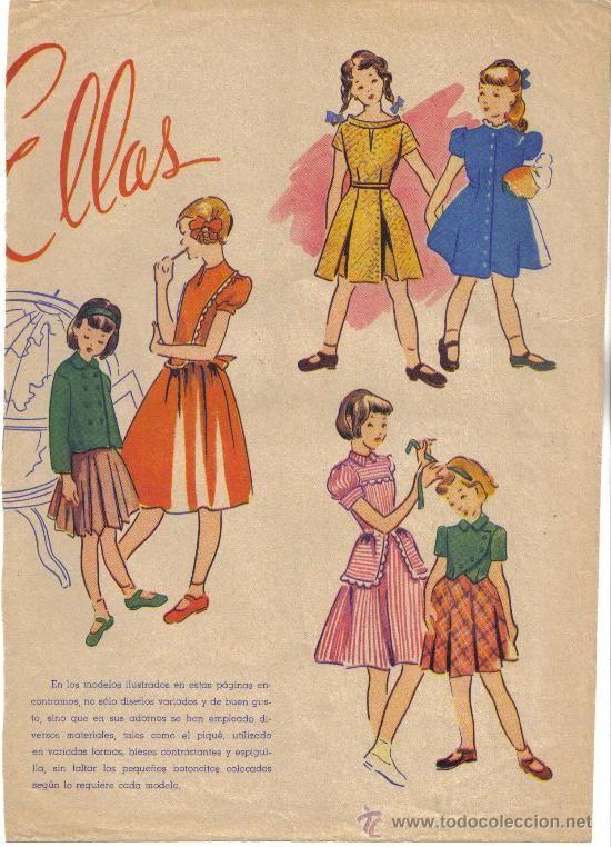 Hoja de revista moda infantil a os 50 d cada 1950 - Los anos cincuenta ...