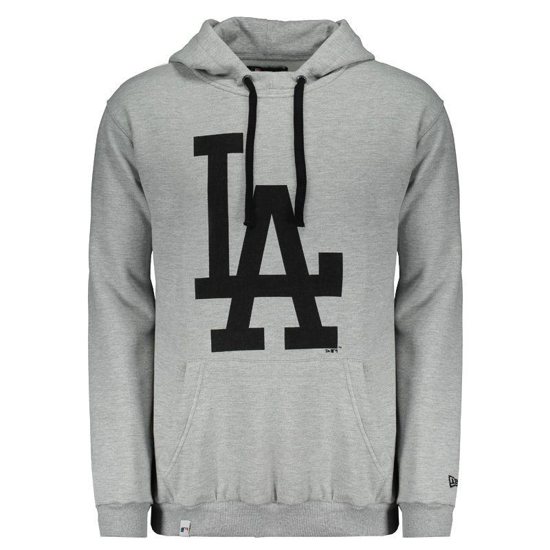 Moletom New Era MLB Los Angeles Dodgers Cinza Somente na FutFanatics você compra  agora Moletom New 0eadbc0393971