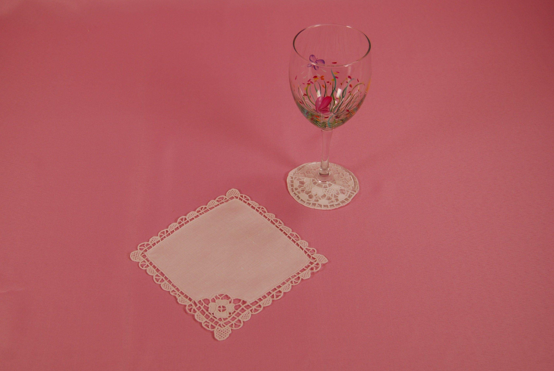 Vintage Wine Glass Spats