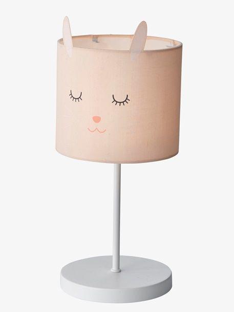 Nachttischlampe Fur Kinderzimmer Hase Rosa 1