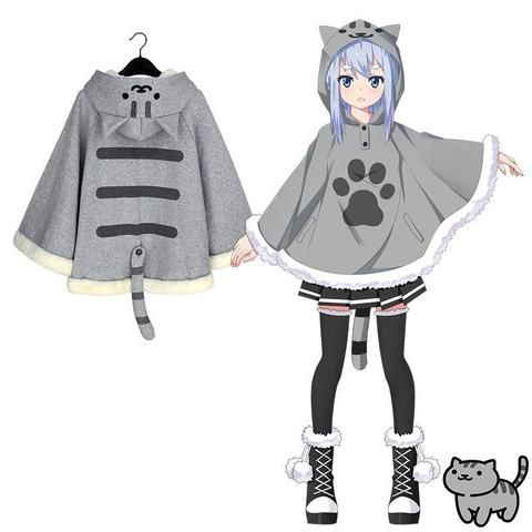 [Neko Atsume] Kitty Cat Warm winter Bat Sweater Coat SD01447