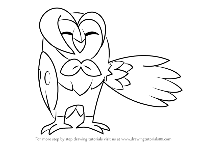 how to draw dartrix from pokemon sun and moon drawingtutorials101com