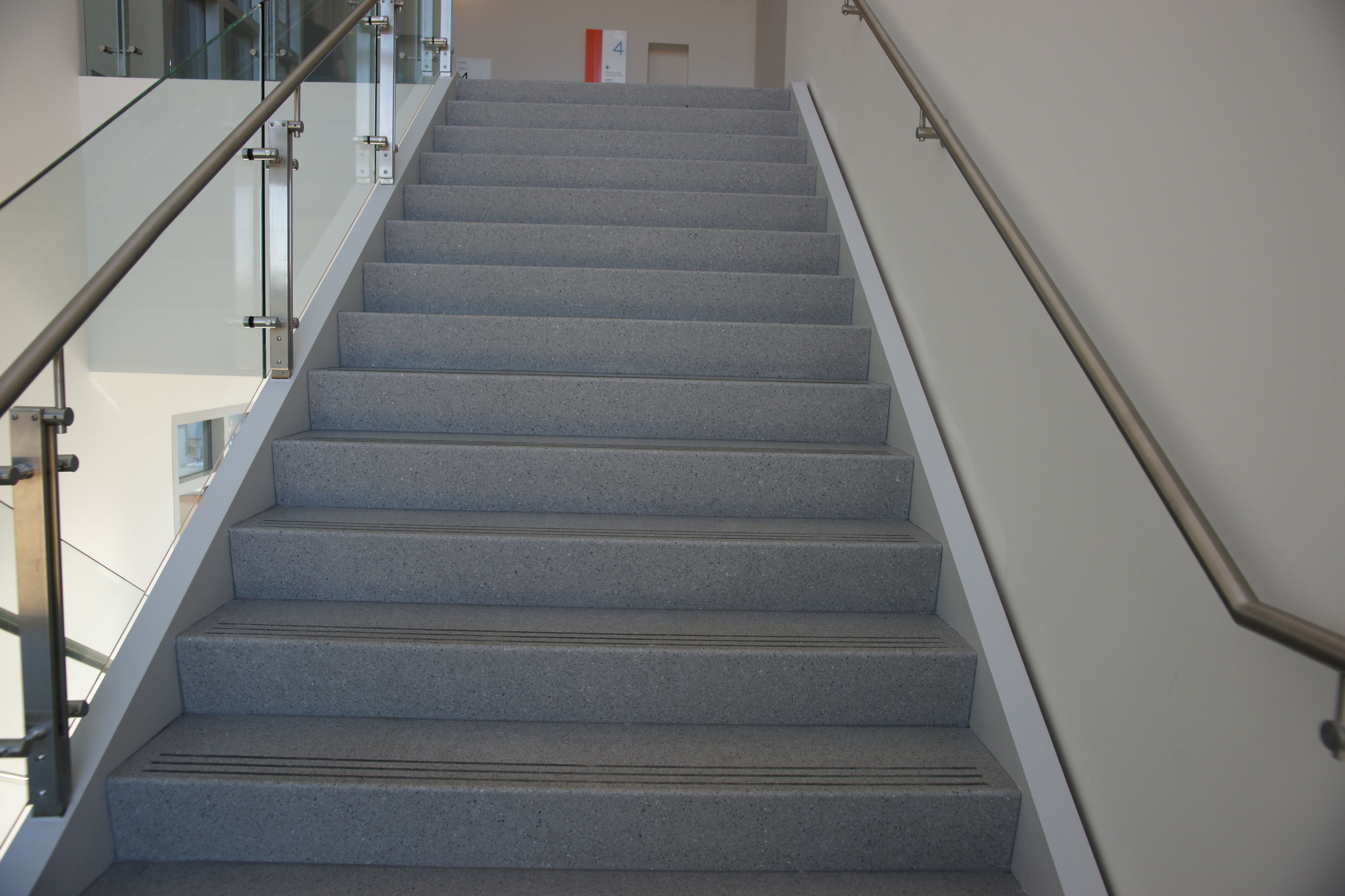 Merveilleux Epoxy Precast Terrazzo Stair Treads And Riser Combos Www.terrazzco.com # Staircase #terrazzo #precast #stairs #treads