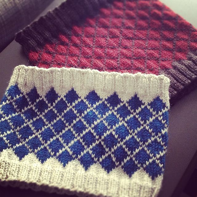 The Academic cowl.. Would like to do with lots of colors in vertical stribes