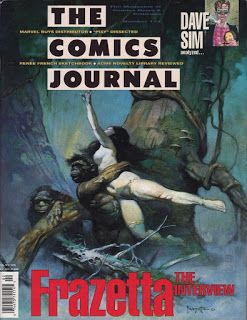 The Comics Journal Cover That Time Forgot by Frank Frazetta