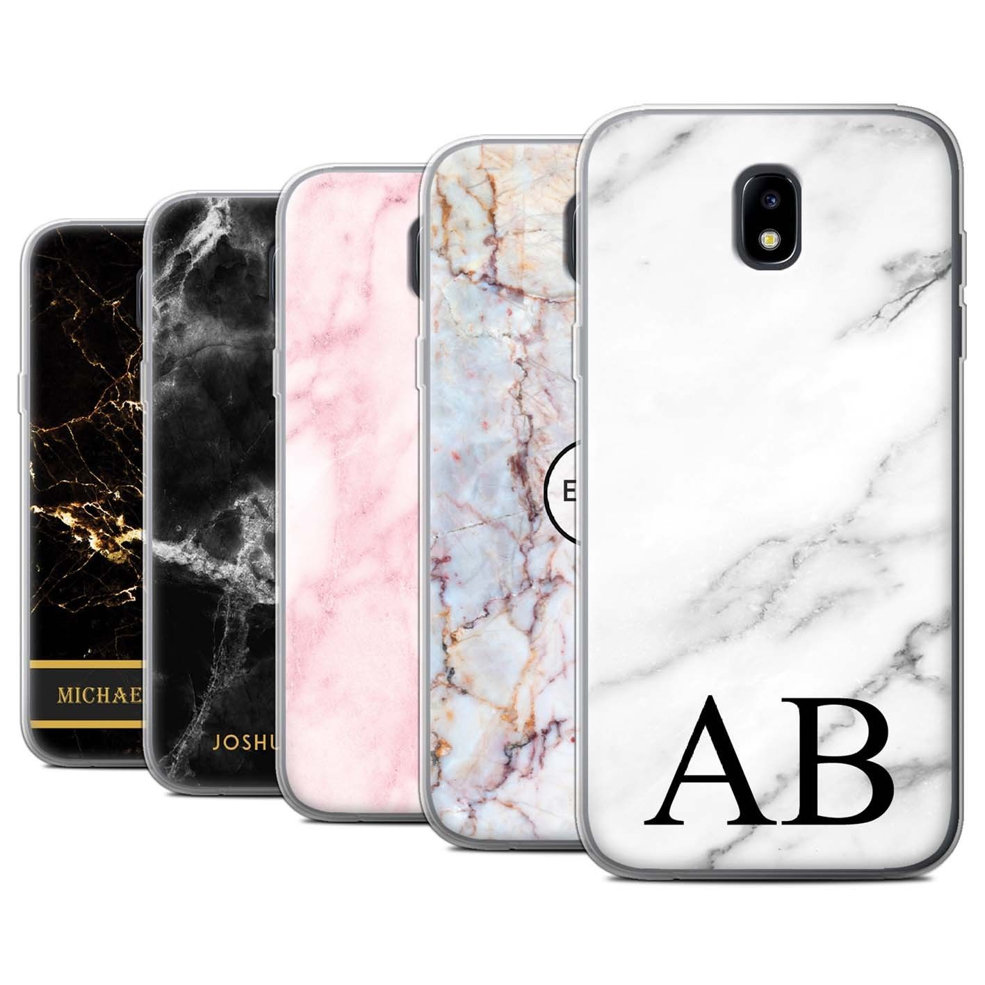 cheap for discount a52ef dc6ff Personalised Custom Marble Case Samsung Galaxy J5 2017/J530/Initial ...